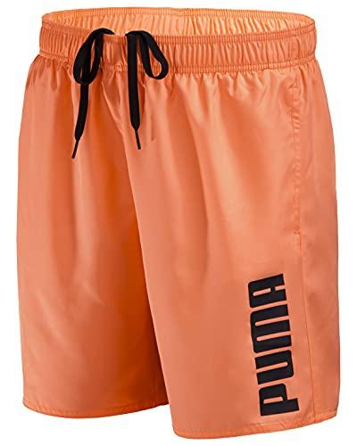 PUMA Herren Badehose Badeshorts Summer Deluxe Swim Shorts - New orange - Gr. XL