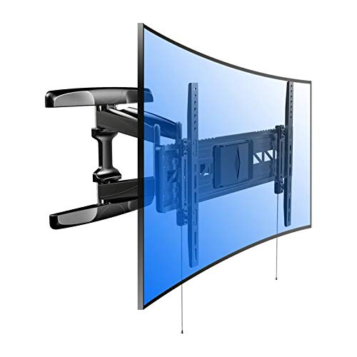 Fleximounts R2 Soporte de Pared, Inclinable y Giratorio para TV UHD HD de Panel Plano y Curvado, Brazo Articulado, cuadra a Curvo TV LED, LCD, Plasma, OLED, 32-70 Pulgadas, Samsung, etc.