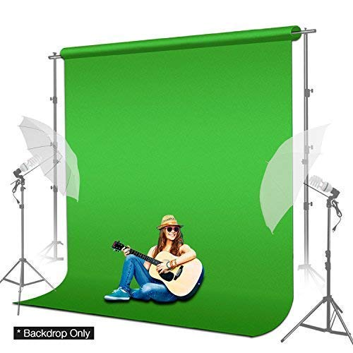 LimoStudio 6 x 9 ft. Green Muslin Backdrop with Ring Metal Holding Clips for Photo Video Studio, AGG1338