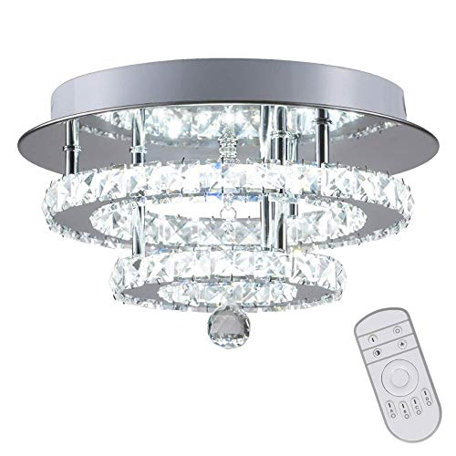 Kristall Dimmbare Deckenleuchte Unterputz Moderne Moderne Luxus LED Kronleuchterlampe Mit 30W Beleuchtung für das Schlafzimmer-Foyer im Esszimmer