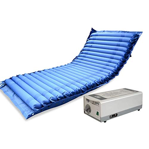 Anti-Dekubitus-Luftmatratze mit aufblasbarer Pumpe für gelähmte Patientenversorgung (blau)