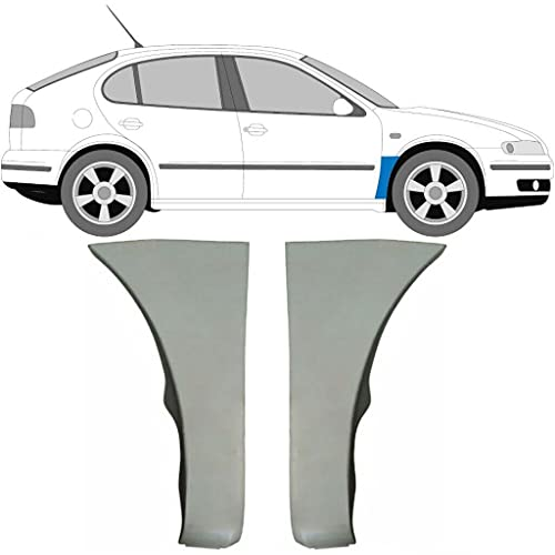 Juego de 2 paneles de reparación de alas delanteras para Seat Leon/Seat Toledo / 1999-2006 / Leon 1M1 / Toledo Mk2 / Acero sin pintar, para ambos lados del coche/Deshazte del óxido en tu coche