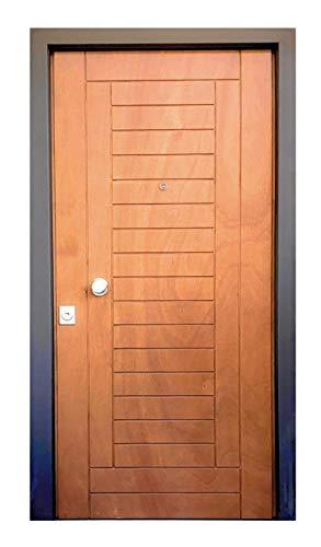 Generico Rivestimento Pannello Porta in Legno pantografato Porta Blindata Standard 210.5 cm x 91.5 cm