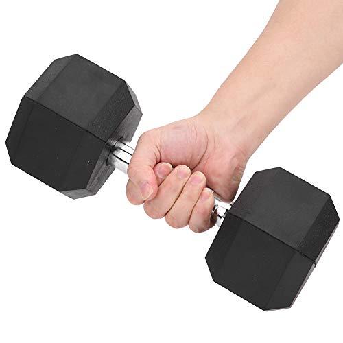 Da Dini Kettlebells 10KG Für Armtraining, Single Rubber Encased Hex Hantel Home Gym Workout Fitness Hand Eisen Hantel