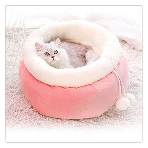 Katt varm säng för vintern Rosa sängbänk för hundar Valpmatta Mjukt hus för katter-i kattbäddar och mattor hemifrån och trädgården