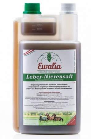 Ewalia Leber-Nierensaft 1 Liter Flasche 100% Reine Kräuterbasis