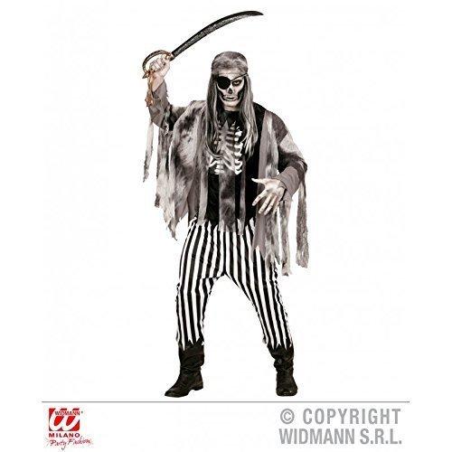 Lively Moments Kostüm / Halloweenkostüm / Herrenkostüm Geisterschiffpirat / Pirat mit Augenklappe Gr. M = 50