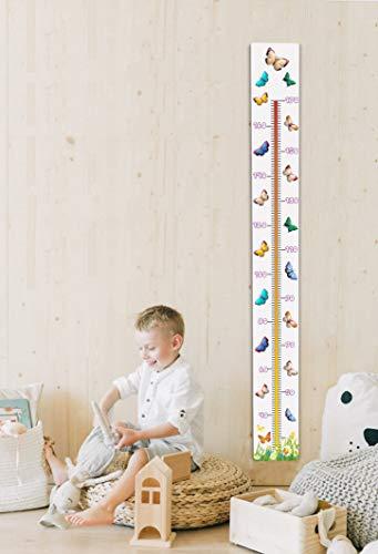 NivellPublicitari Talímetro - Medidor Infantil Pared Ecológico - Medidor Infantil Adhesivo Puerta Armario - 3 Modelos -Medidor Pare (Adhesivo Vinilo, Mariposas)