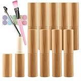 FBJIE 10 Stück 4 g Leere Natur Bambus Lippenbalsam Röhre, 4 ml Selbstgemachten Lippenstift Lippen...