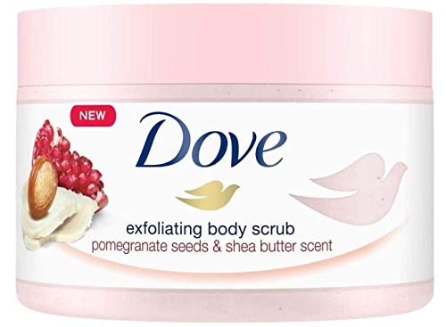 Dove Exfoliating Body Scrub Pomegranate Seeds and Shea Butter Scent 225ml