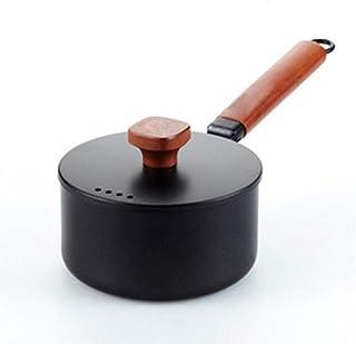 Kofferraum 16cm, 2L de Hierro Fundido Cocinar Sopa de Olla Calentar la Leche Sopa de Olla Cacerola Antiadherente de Cocina una Olla Pan