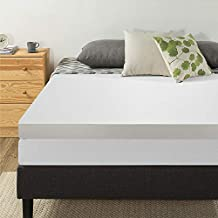 Best Price Mattress 4 Inch Memory Foam Mattress Topper with Cover, Calming Green Tea Infusion, CertiPUR-US Certified, Queen