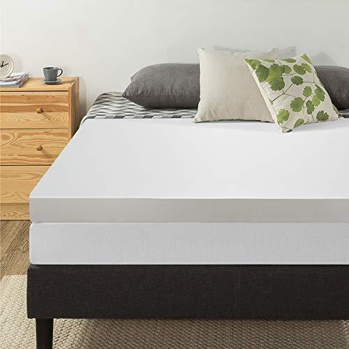 Best Price Mattress 4Inch Memory Foam Mattress Topper - Twin - Mattress Pad, Foam Bed, Bed Topper