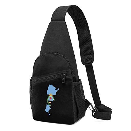 XCNGG Argentina Map Flag Chest Backpack Chest Pack Ultra Lightweight Backpack