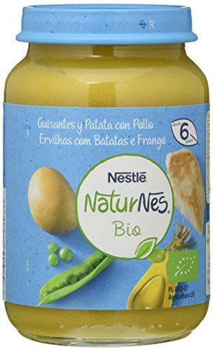 Nestlé Naturnes Bio Puré Guisantes, Patata Y Pollo Tarrito Para BebésDesde 6 Meses - Pack de 12 tarritos 190g