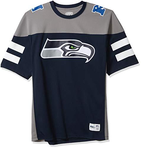 OTS NFL Seattle Seahawks Men's Alton Jersey, Team Color, Large