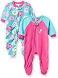Gerber Baby Girls' 2-Pack Blanket Sleeper, Donuts Green, 24 Months