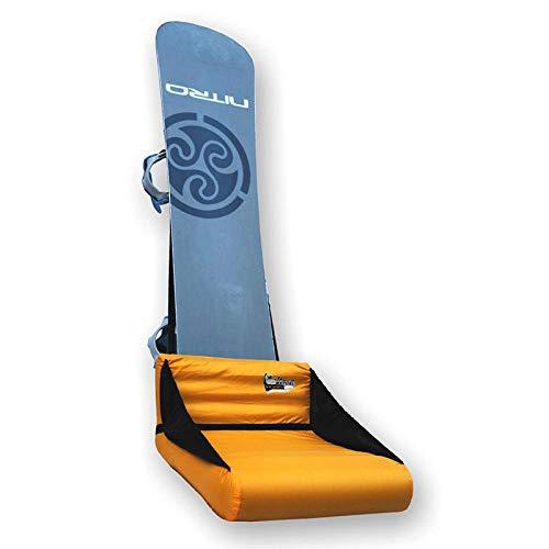 Outdoor Sport Multifunktions Sitz Aufblasbar Snowboard Kissen Funpark Ausrüstung Polster Gelb Typ673