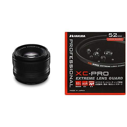 【セット買い】FUJIFILM 単焦点標準レンズ XF35mmF1.4 R+HAKUBA 52mm レンズフィルター XC-PRO 高透過率 撥水防汚 薄枠 日本製 レンズ保護用 CF-XCPRLG52