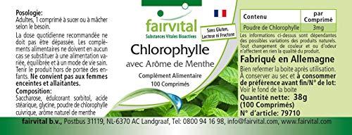 Chlorophyll Kautabletten mit Minzaroma – Großpackung für 100 Tage – VEGAN – 100 Kautabletten - 5