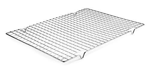 Lacor 66927 Rejilla Rectangular para repostería, 43x30 cm, Acero Cromado