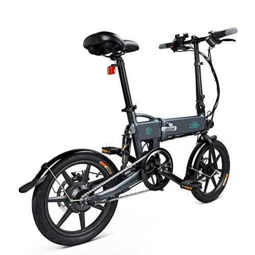 Finelyty FIIDO D2 - Bicicleta eléctrica plegable, portátil y fácil de guardar en la caravana, batería de iones de litio de carga corta, Silent EBike