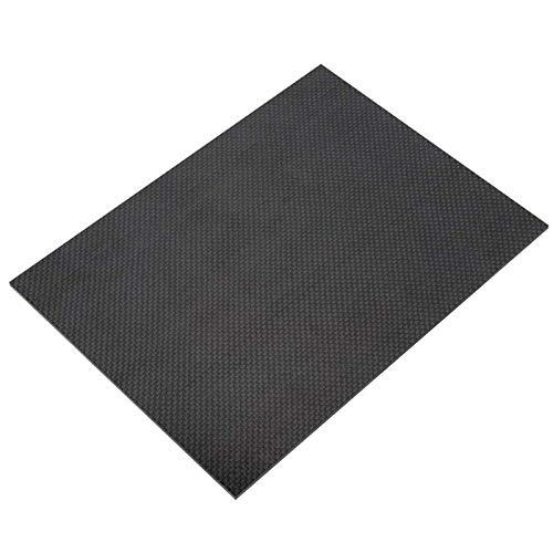 IQQI Stärke 3/4 mm, 500 X 400mm, 3K Carbon-Faser-Platte, Plain Weave Glatte Oberfläche, Für DIY Modellmaterial,500×400×3mm