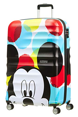 American Tourister Wavebreaker Disney - Spinner L Koffer, 77 cm, 96 L, Mehrfarbig (Mickey Close-Up)