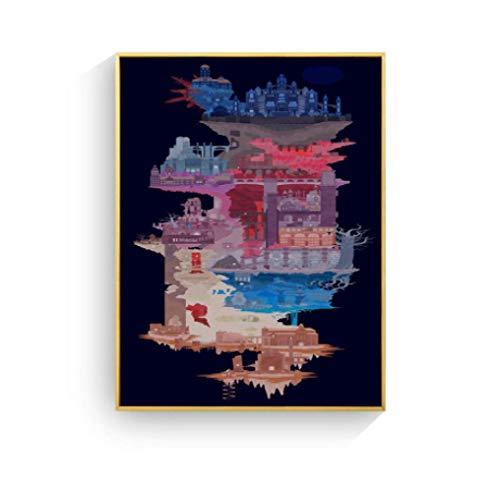 JYSHC Cuadro En Lienzo Dark Souls Game Cuadro En Lienzo Poster Imagen En La Pared Sala De Estar Decoración para El Hogar Ma87Ht 40X60Cm Sin Marco