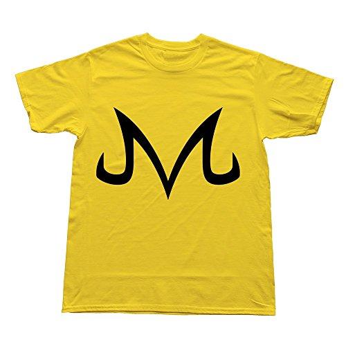Men Majin Symbol Custom Cool Yellow Tee by Mjensen