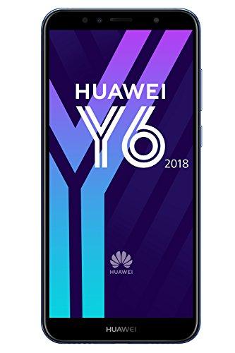 Huawei Y6 2018 Smartphone Débloqué 4G (5,7 pouces - 2/16 Go - Double Nano-SIM - Android) Bleu