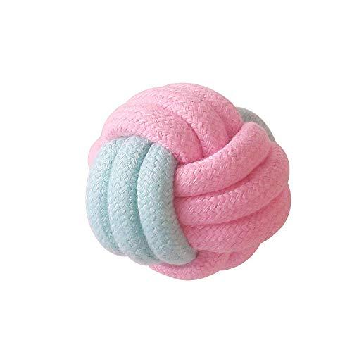 Juguete de perro de cuerda de algodón, juguete de cuerda de algodón tejido natural para perros, dientes naturales Limpieza de dientes para mascotas Cuerda de mascota Juguete de algodón Cuerda de algod