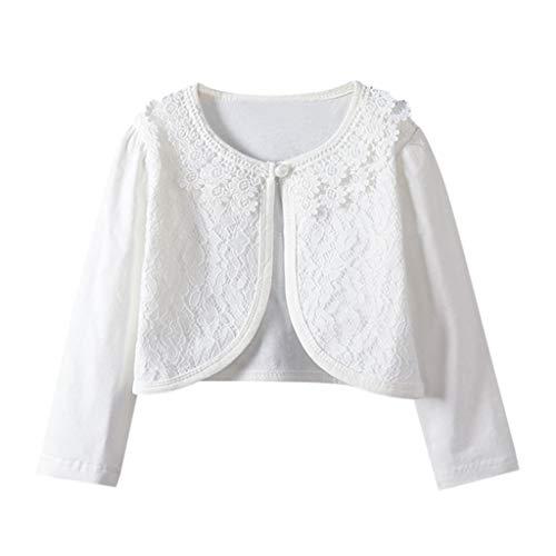 Vrouw peuter/meisjes lange mouwen shirt kant prinses cardigan sjaal top