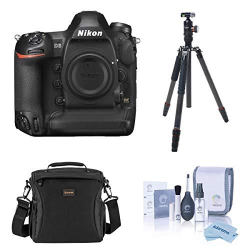 Nikon D6 FX-Format Digital SLR Camera Body Bundle with FotoPro X-Go Max 4-Section Carbon Fiber Tripod, Camera Bag, Cleaning Kit