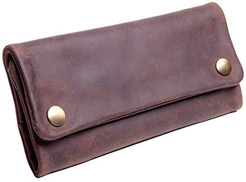 ANDERS Bolsa de Tabaco de Liar de Cuero Retro Vintage Unisex (marrón)