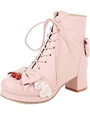 Gracemee Plus Size Ankle Boots