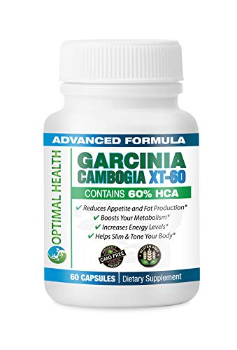 Healthy Habits Optimal Health Garcinia Cambogia XT-60 Supplement w/ 60% HCA Best Fat Burner, All Natural Appetite Suppressant, High Potassium, High Chromium, Weight Loss Mngt and Metabolism Booster