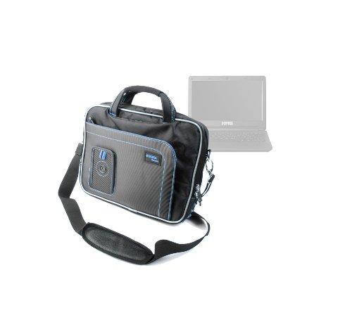 """DURAGADGET Housse Sacoche Noir/Bleu de Transport + bandoulière réglable pour Ordinateur Portable Schenker XMG A102 11,6"""" Intel Core i7"""