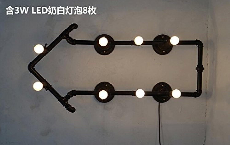 StiefelU LED Wandleuchte nach oben und unten Wandleuchten Loft Wandleuchte tube Lampe retro Industrial light Cafe rustikalen eiserne Wand leuchten, Waren und einen Stecker Schalter Verkabelung