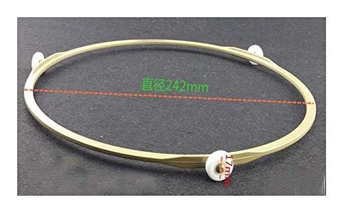 MXQIN 24,2 Centimetri Diametro della Piastra del Forno a microonde Parti in Vetro 1,7 Centimetri Girevole Anello con Rotella
