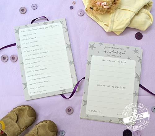 Zeitkapsel Baby Karten Wünsche Ratschläge Vorhersagungen, Geschenk zur Geburt und 1. Geburtstag