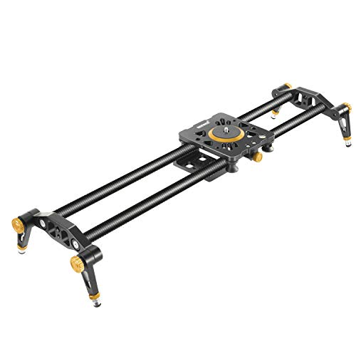 Neewer Carbon Fiber Camera Track Slider Video Stabilizer Rail with 6 Bearings (31.5'/80cm)