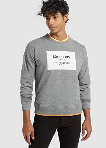LOIS JEANS - Sudadera para Hombre | Sudadera Estampado algodón | Tallaje en Pulgadas | Talla Inch