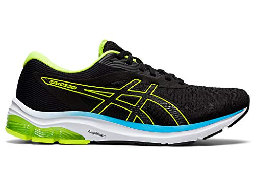 ASICS Men's Gel-Pulse 12 Running Shoes, 13, Black/Hazard Green