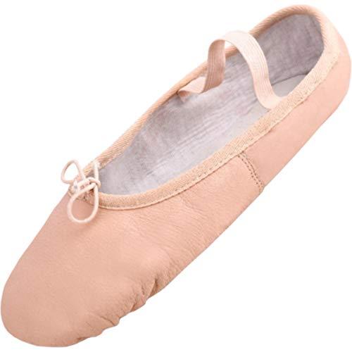 Lappade Ballettschuhe mit Ledersohle Beige-Aprikose Gymnastikschuhe, Ballerinas, Schläppchen, Tanzschuhe Art. 280 Gr. 38