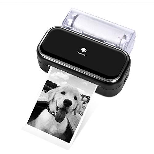 Phomemo M03 Tragbarer Fotodrucker - Handy Thermodrucker, 3-Zoll Druck, Kompatibel mit iOS und Android, Schwarzweiß Fotodrucker für die Arbeit, Studiennotiz, Organisation, Planer - Schwarz