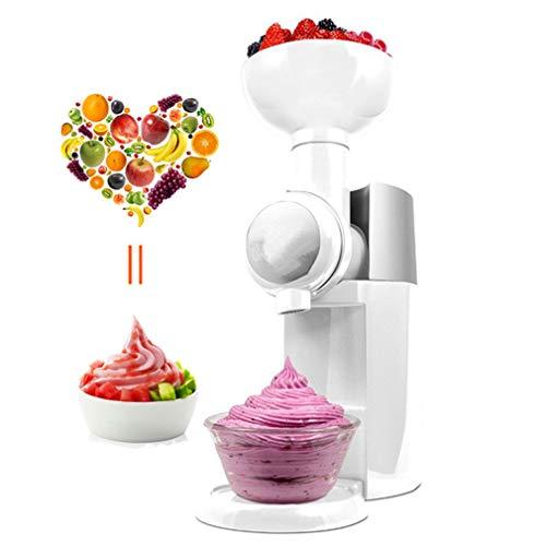 KOUQI Automatische Gefrorenes Obst Dessert Maschine Obst EIS-Maschinen-Hersteller Milkshake Maschine, Gesund, Veganisch Eiscreme, Einfache One Push Betrieb,Weiß