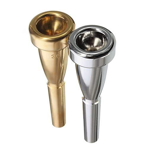 SeniorMar-UK Trompetenmundstück 3C Größe für Bach Metall Trompetenmundstück für Hochregister- und C-Trompetenzubehör