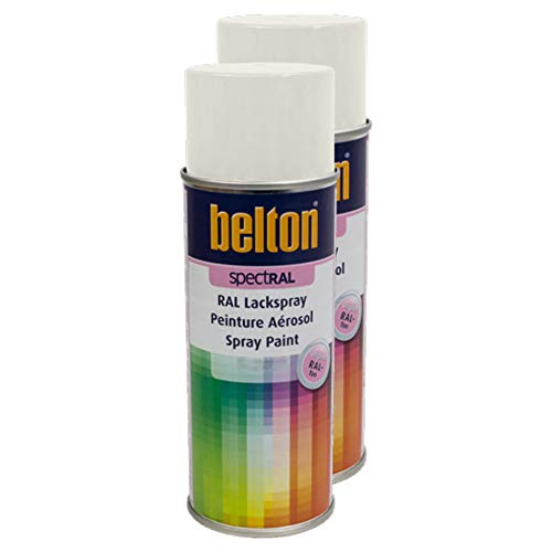 Kwasny 2X Belton Spectral RAL Lackspray Lack Spray Spraylack Cremeweiss Hochglanz RAL 9001 400 Ml
