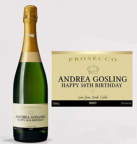 Gepersonaliseerd Gold Prosecco Fles Label - Elke bewoording